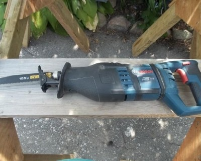 a reciprocating saw